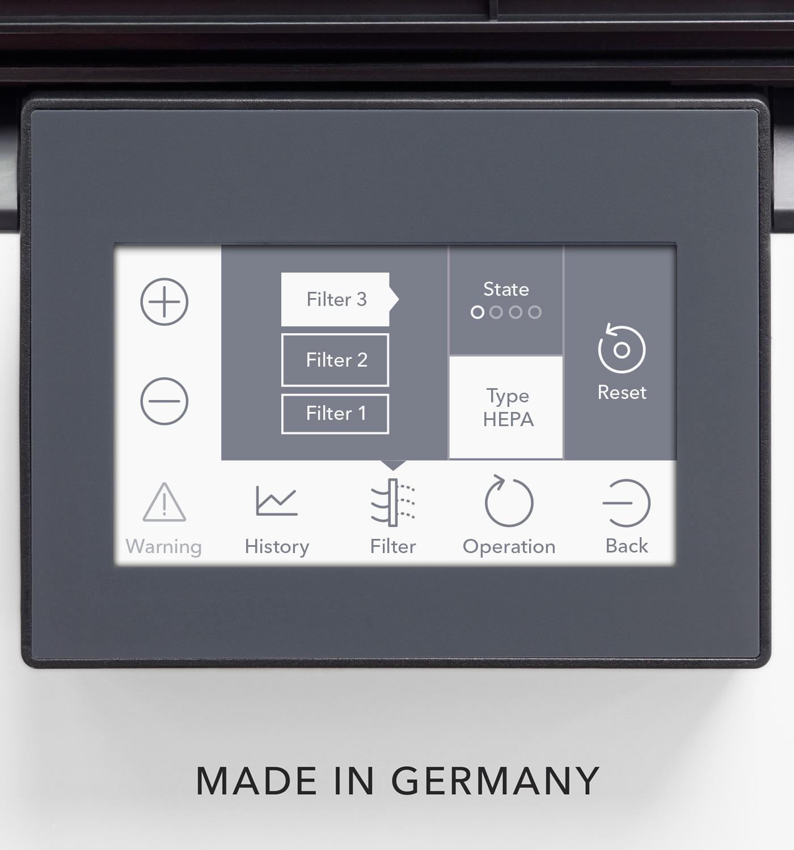 Индикация состояния фильтра с автоматическим уведомлением о замене