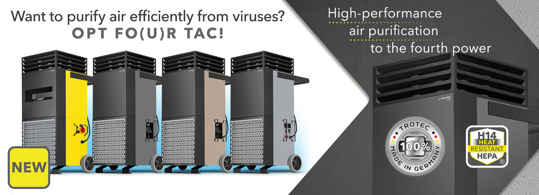 High-performance air purification to the fourth power-Trotec