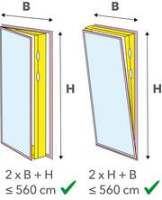 Периметр 560 см для балконных или патио дверей и окон от пола до потолка
